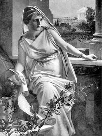Depiction of Hypatia of Alexandria