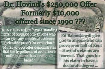 Kent Hovind's $250,000 challenge