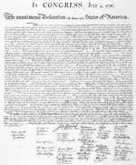 The Declaration of Independence - Click for Enlarged Image